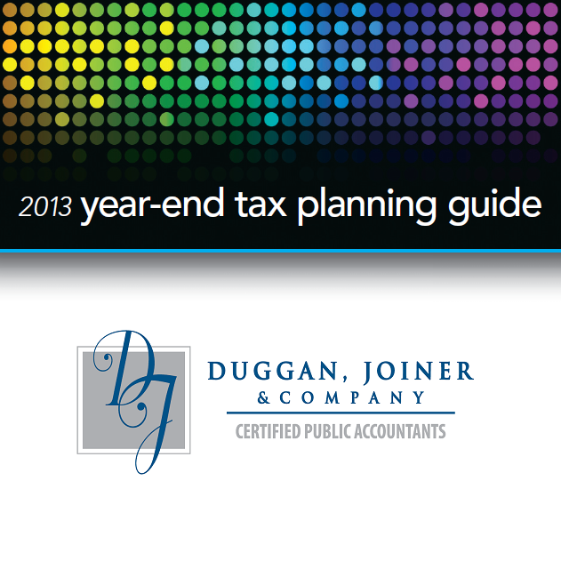 2013 Year-End Tax Planning Guide